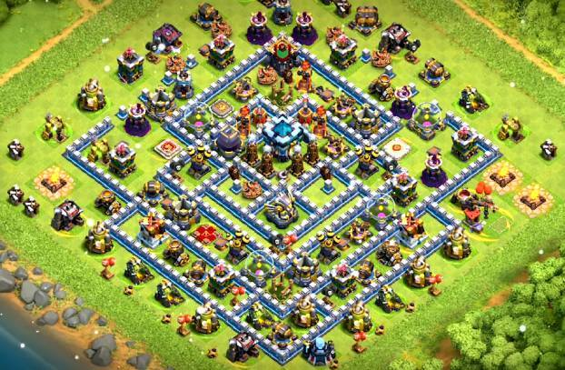 clash of clans townhall 13 farming layout link