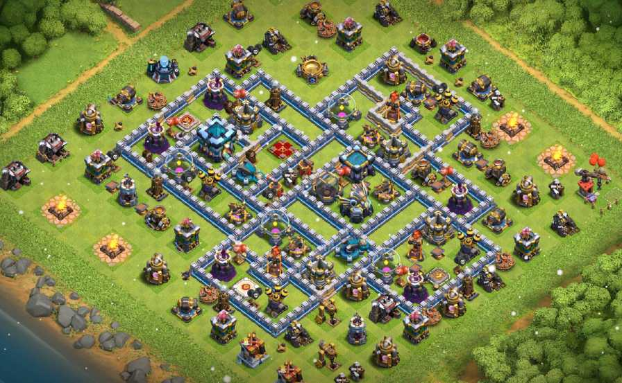 coc townhall 13 farming base layout link