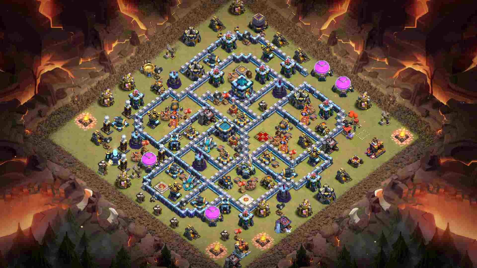 clash of clans th13 war links