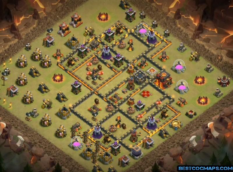 best townhall 10 war base