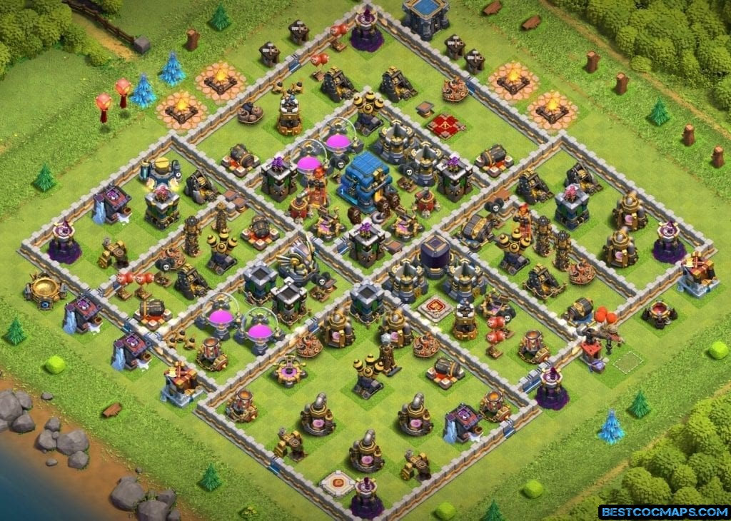 COC th12 base layout links