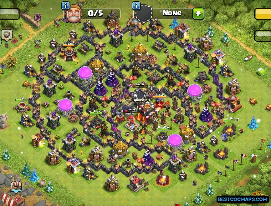 COC th10 base link