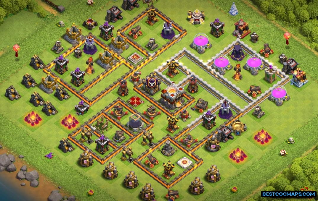 town hall 11 trophy base link