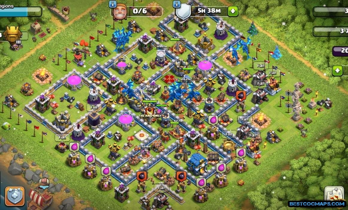 coc th12 farming base lnk