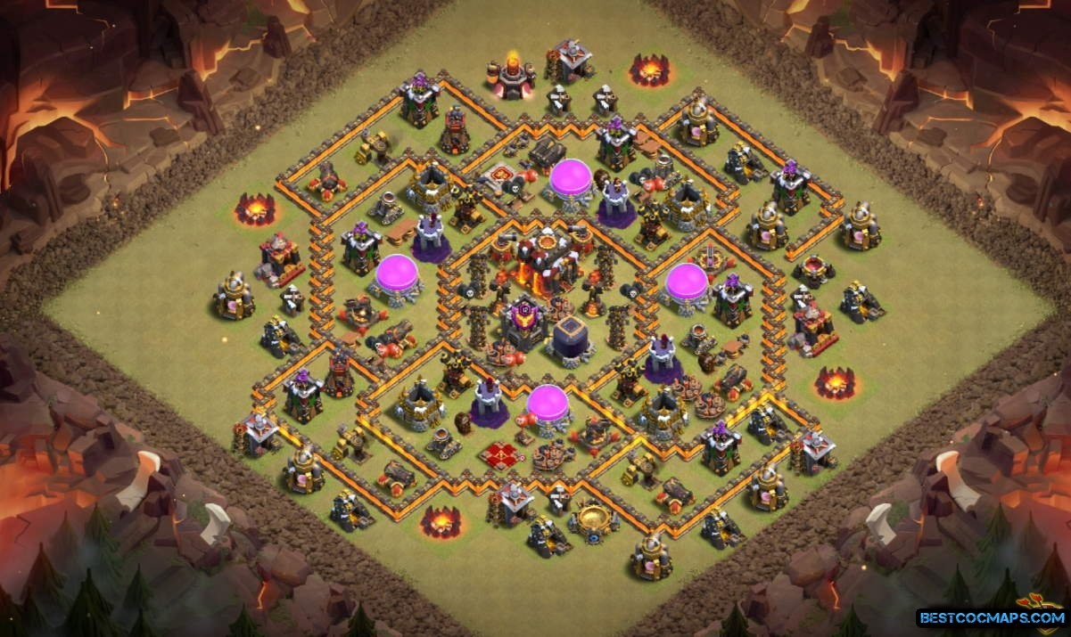 th10 base with bomb tower link