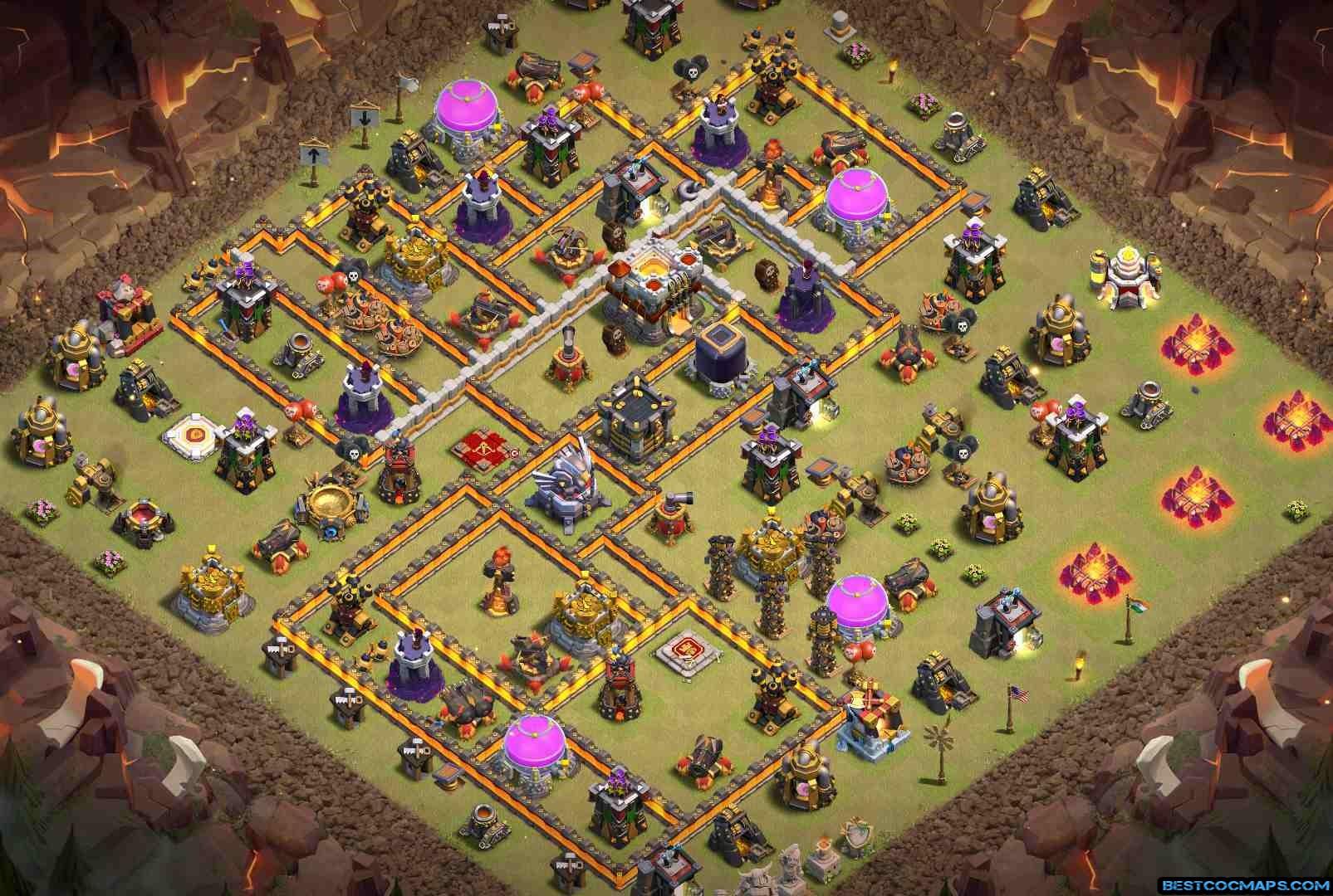 th11 coc war base