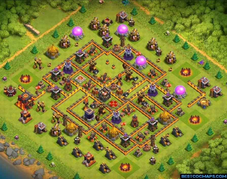th10 war base anti 2 stars