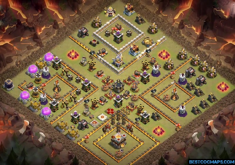 best coc th11 war base