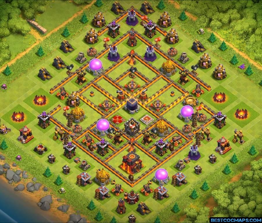 best th10 farming base