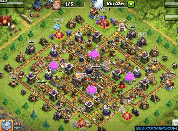 clash of clans th11 trophy base links