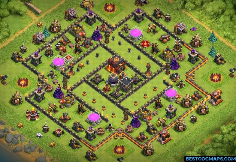 town hall 10 trophy base link