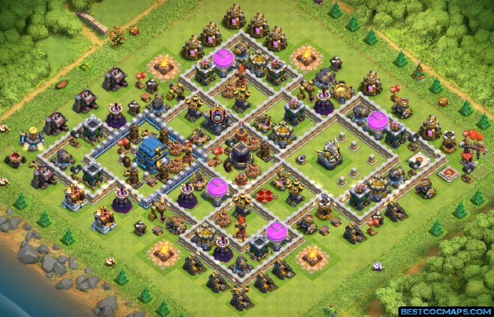 th12 farming base anti 2 stars