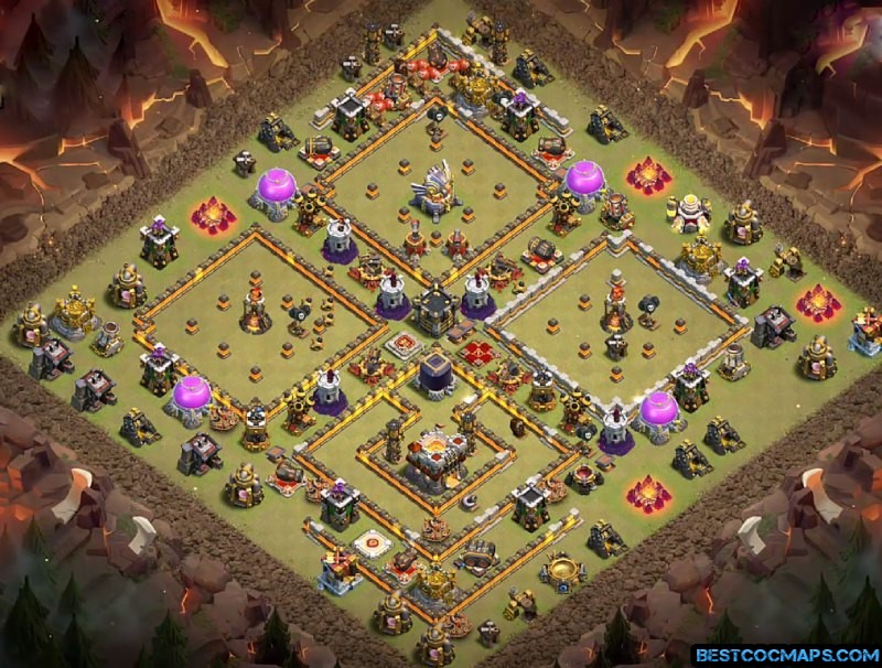 coc th11 war layout link