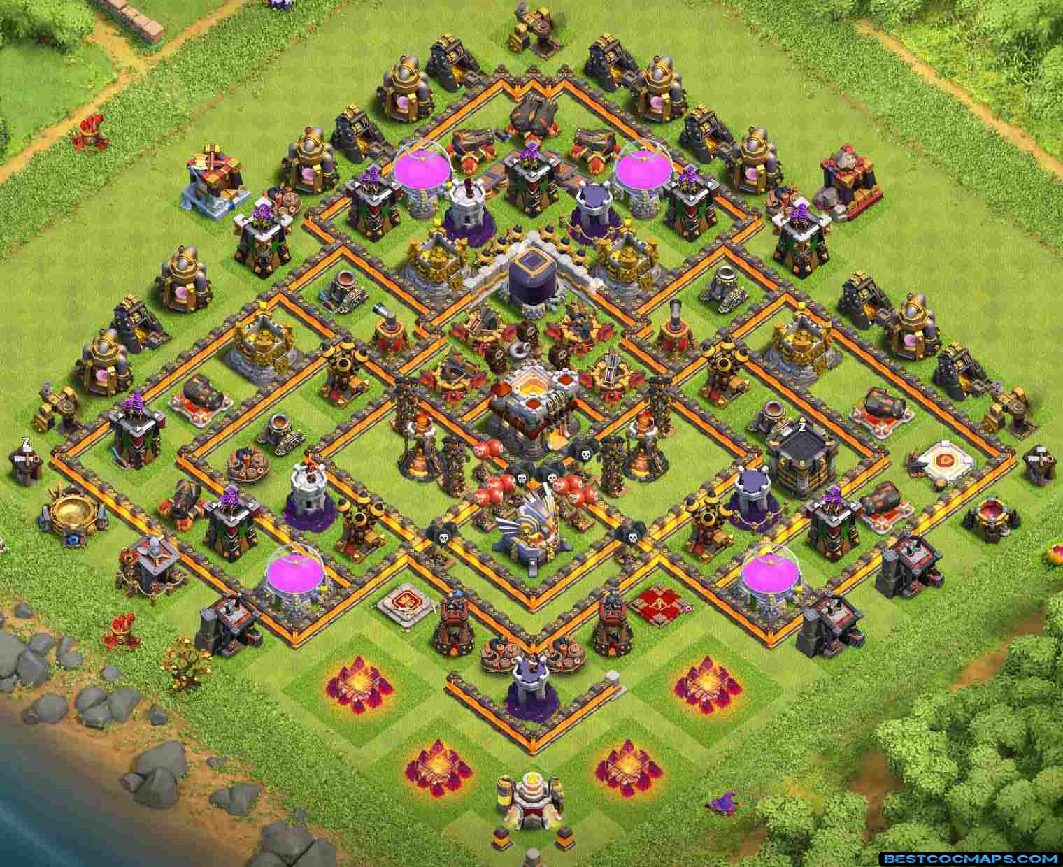 clash of clans th11 hybrid base link