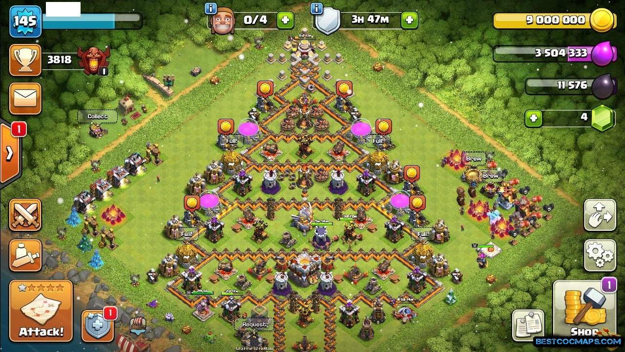 coc level 11 hybrid base