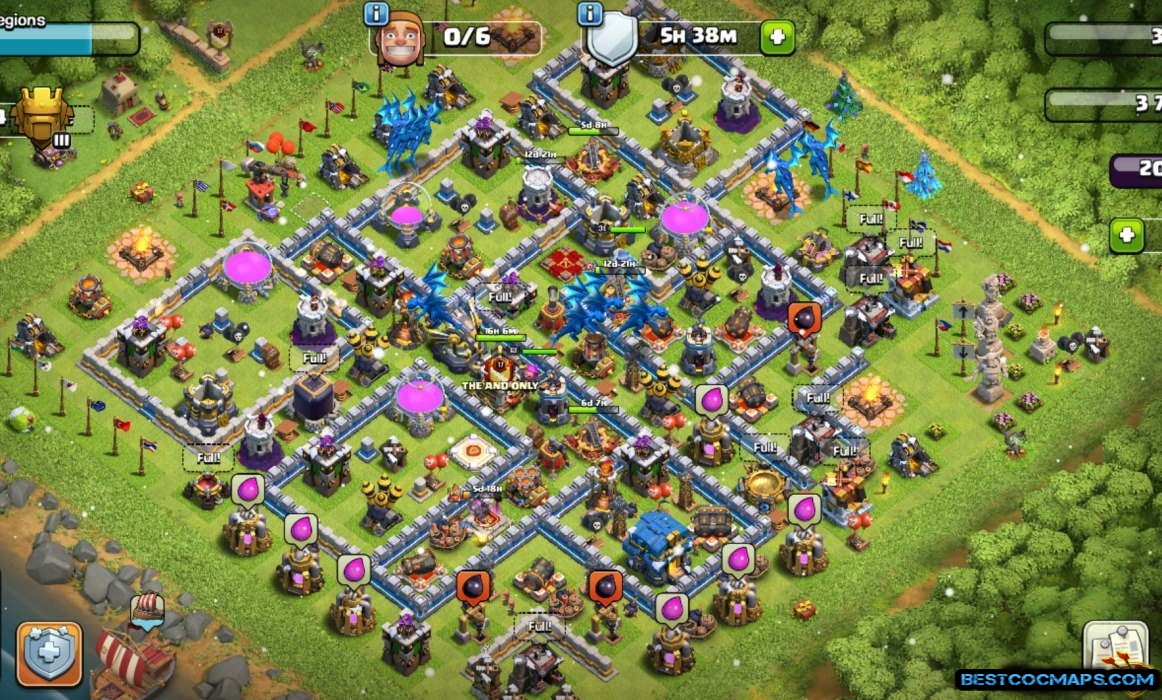 clash of clans th12 trophy base