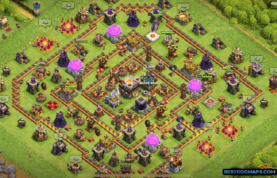 th11 dark elixir farming layout