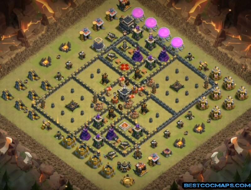 th9 war base dark barbarian