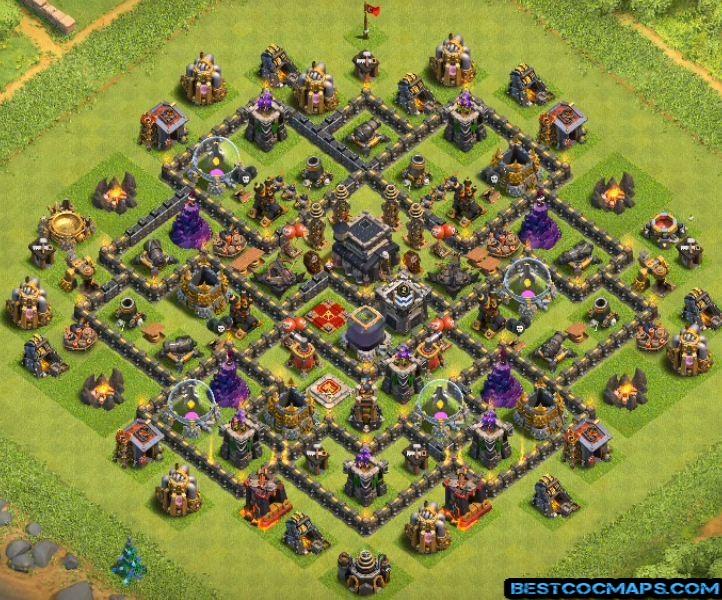 coc th9 farming base design