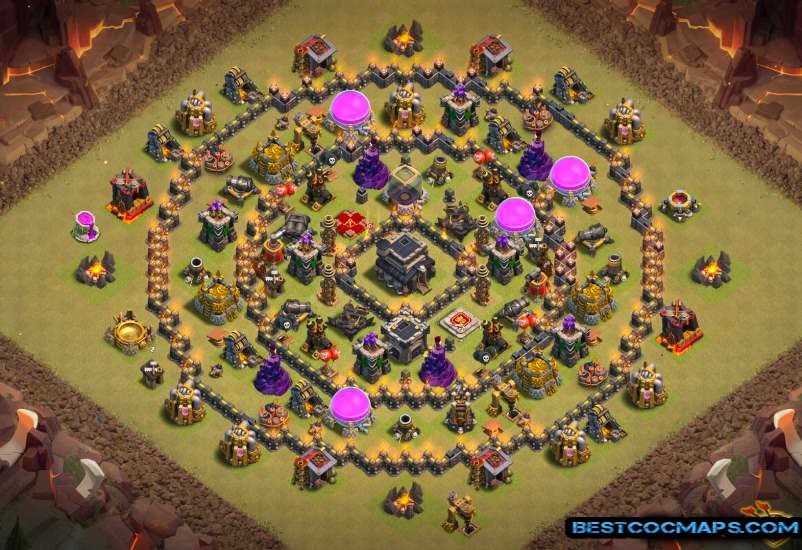 th9 war base layout