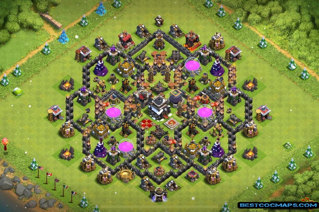 clash of clans th9 trophy base link