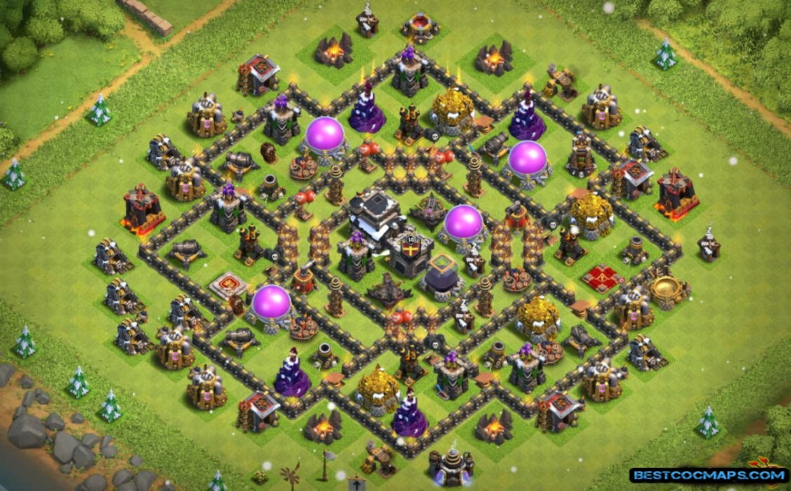 th9 hybrid base without archer queen