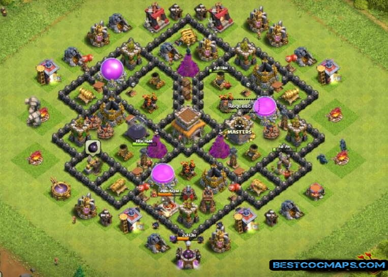 best town hall 8 farming base link