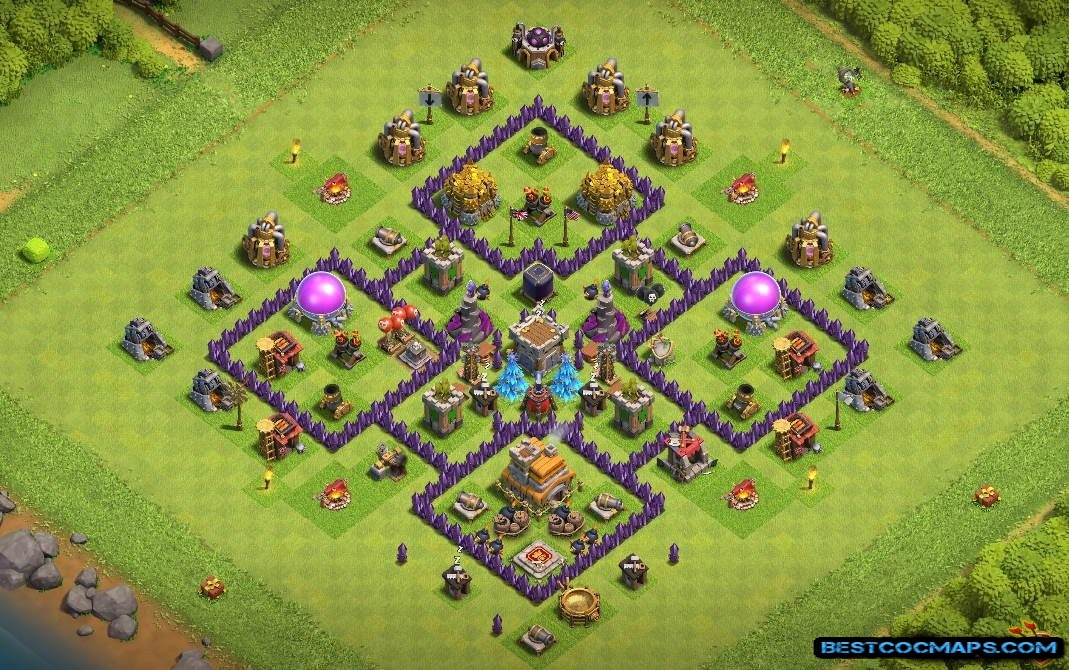 clash of clans th7 farming layout link