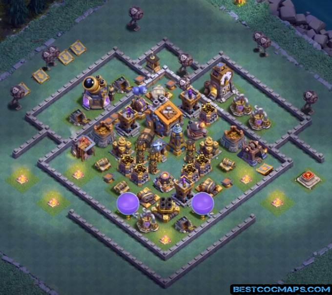builder hall 9 anti 2 star base
