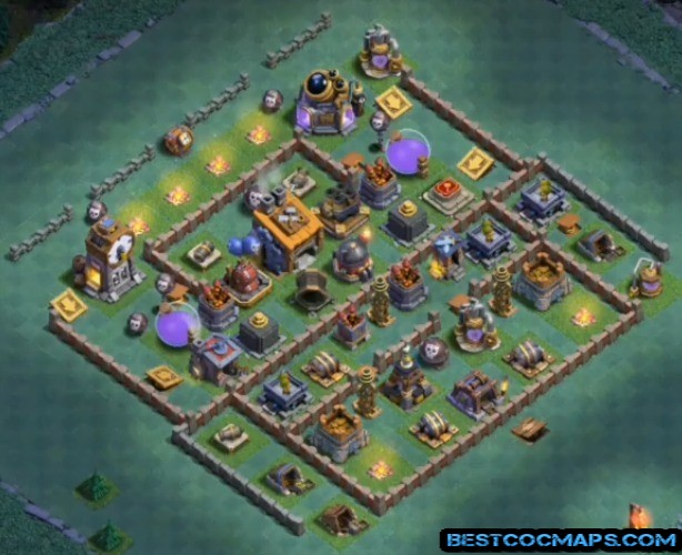 builder hall 8 base anti 1 star