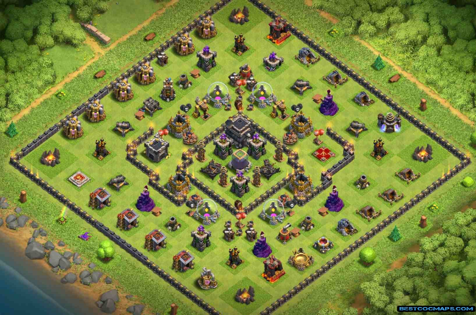 coc th9 trophy bases links