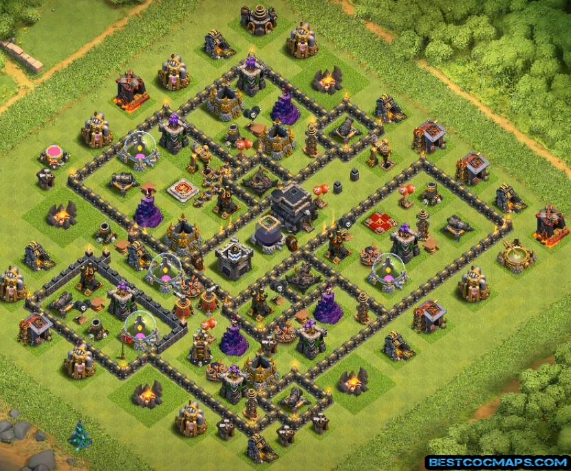 dark elixir farming base level 9