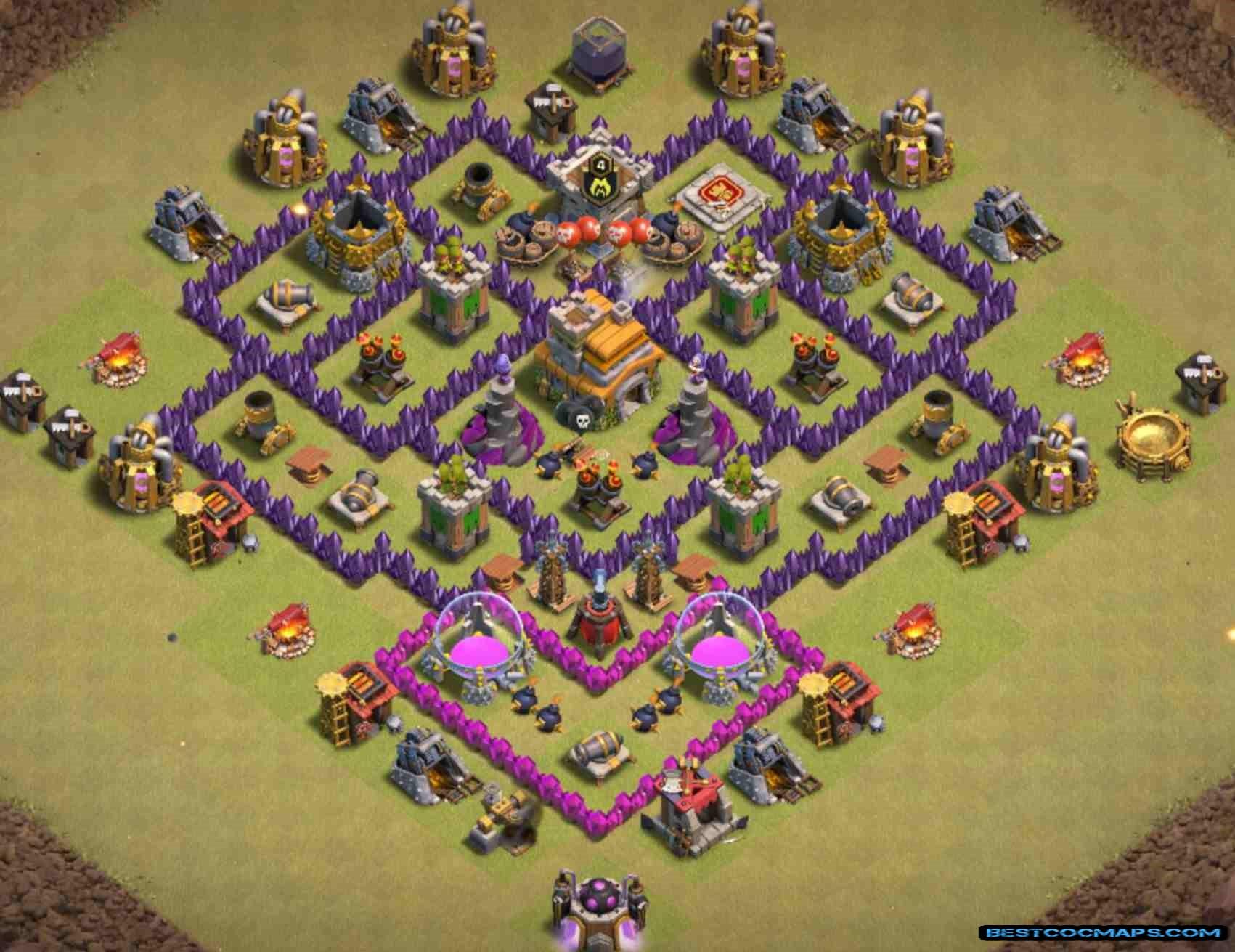 level 7 war base design