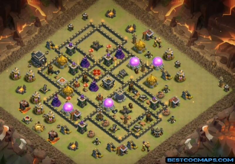 clash of clans th9 war base