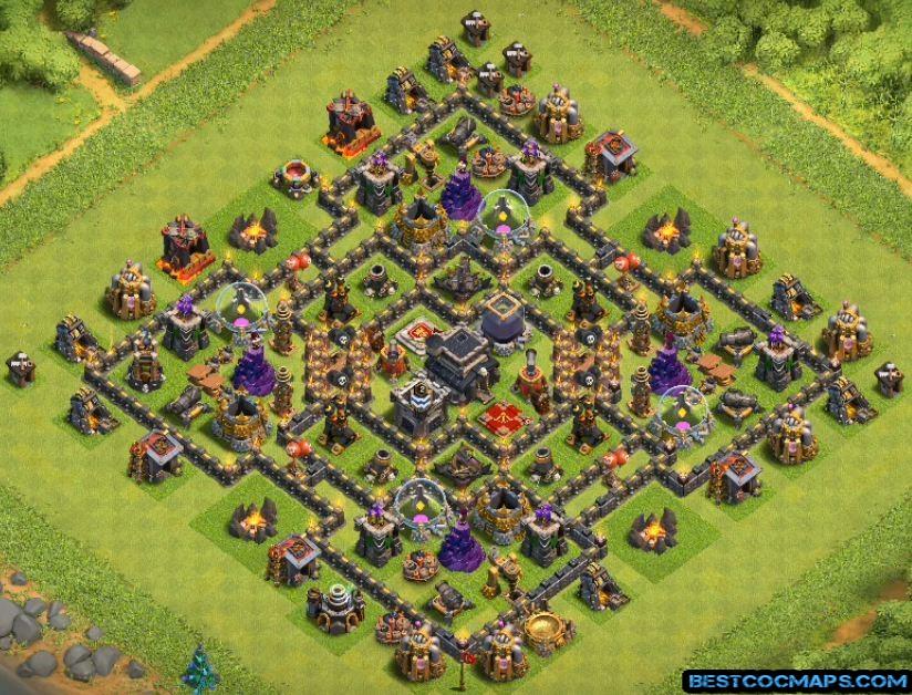 coc th9 farming base link