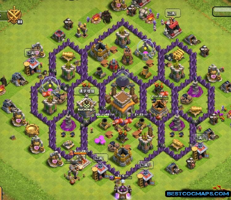 coc th8 bases