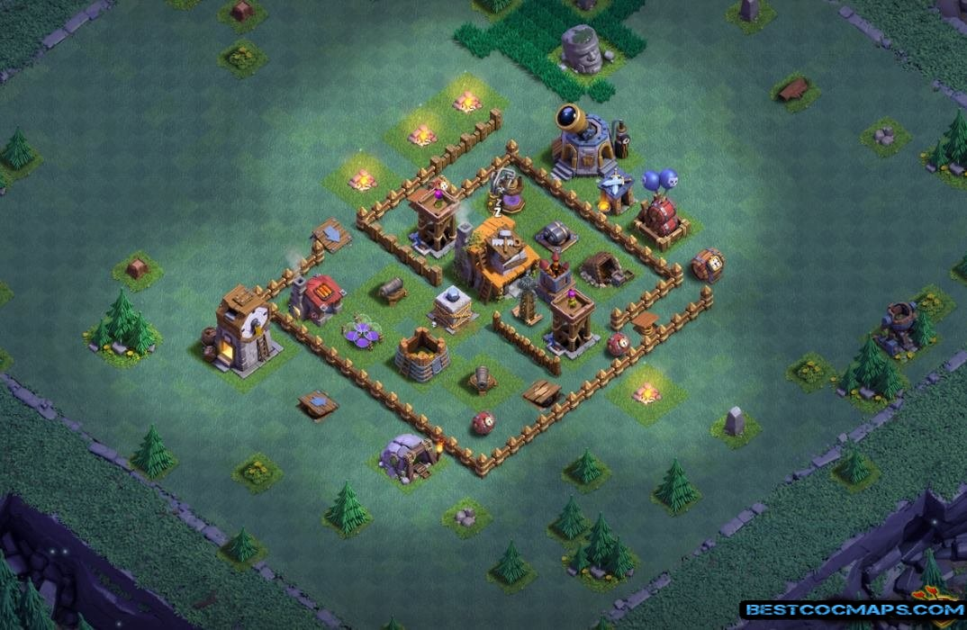 builder hall 4 base undefeated