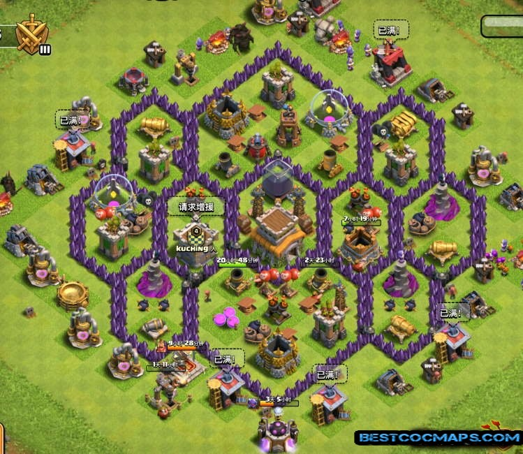 town hall 8 trophy base links