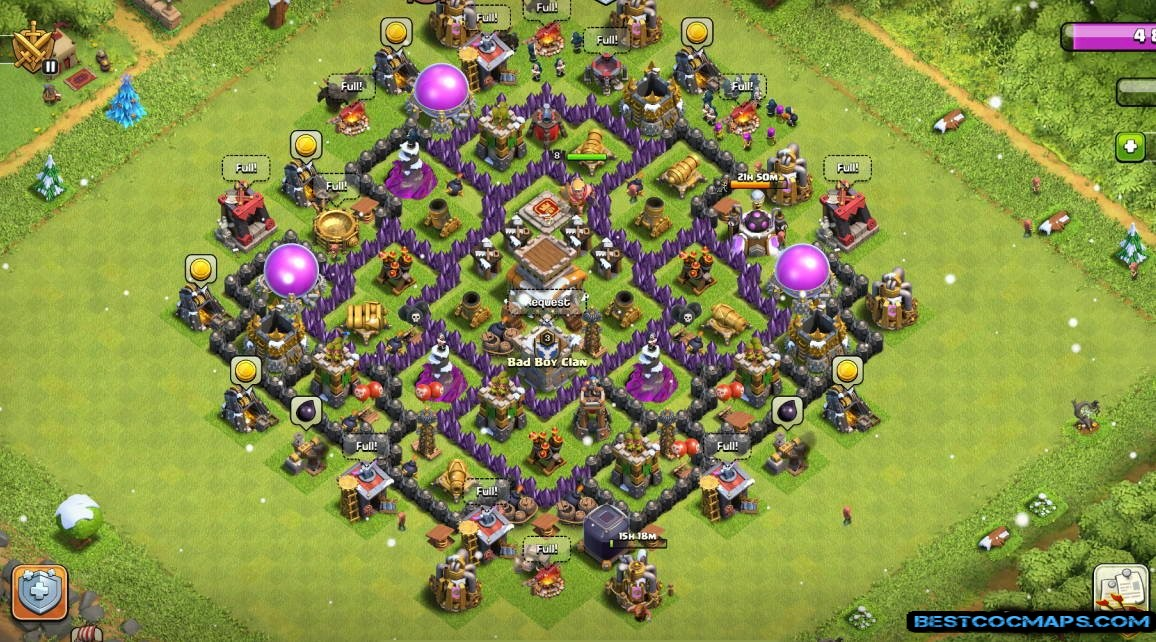th8 trophy base anti valkyrie