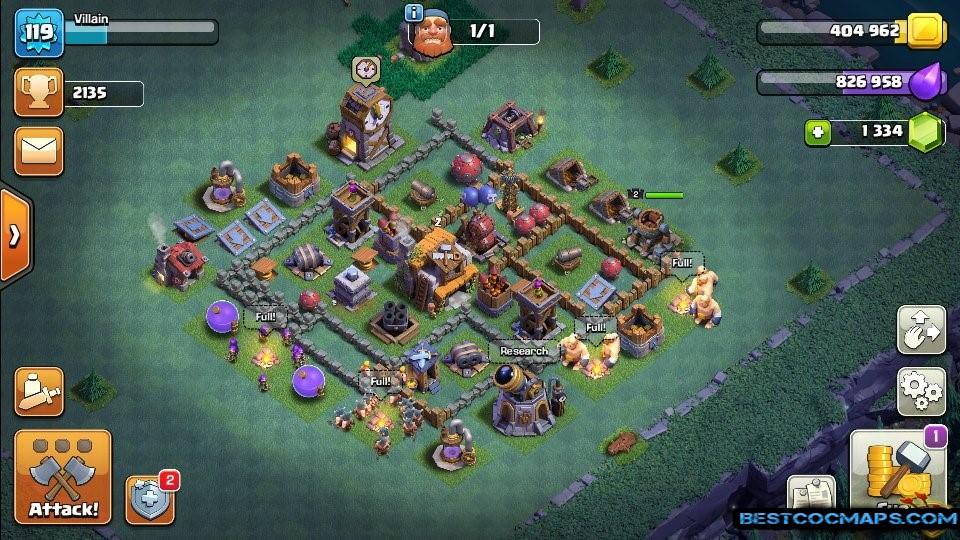 builder hall 5 base best defense