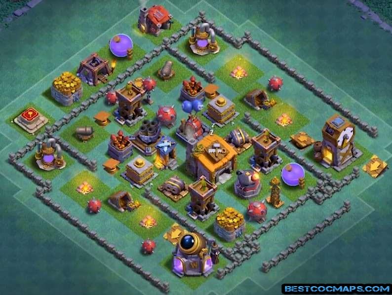 best builder hall 6 base anti 1 star
