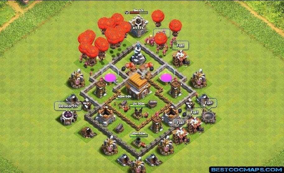 th5 farming base anti 3 stars