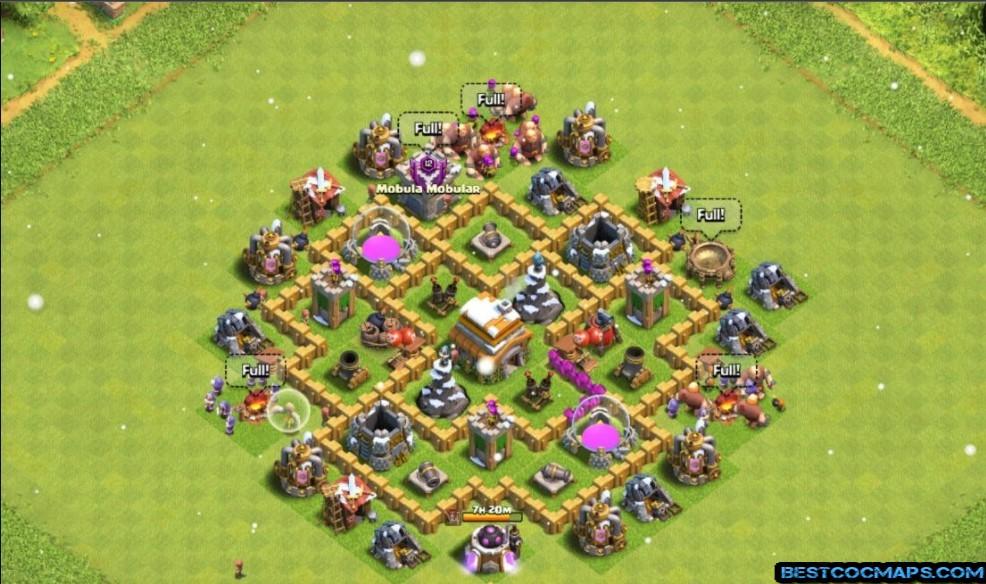 clash of clans th6 farming base link