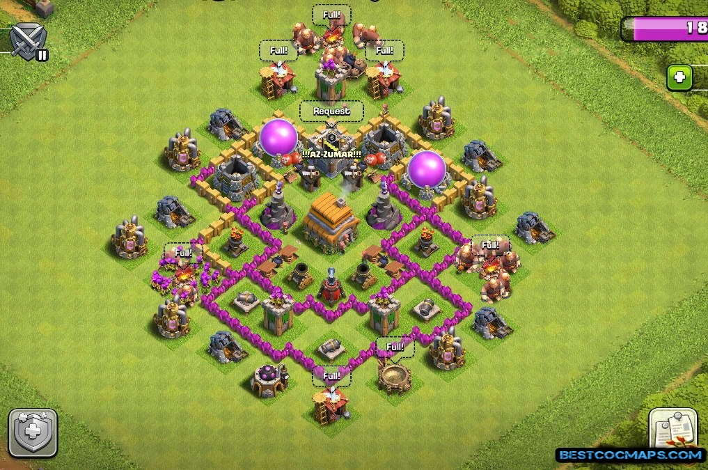 coc th6 farming map link