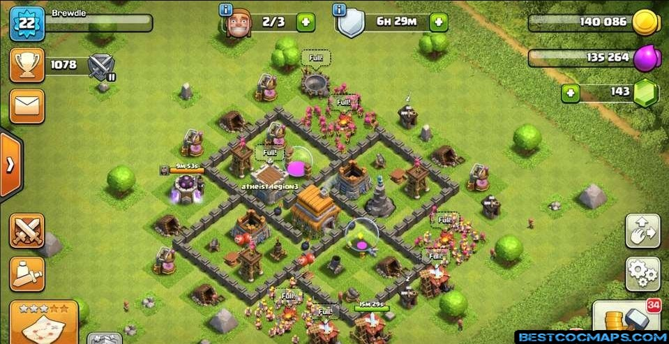 coc th5 farming layout link