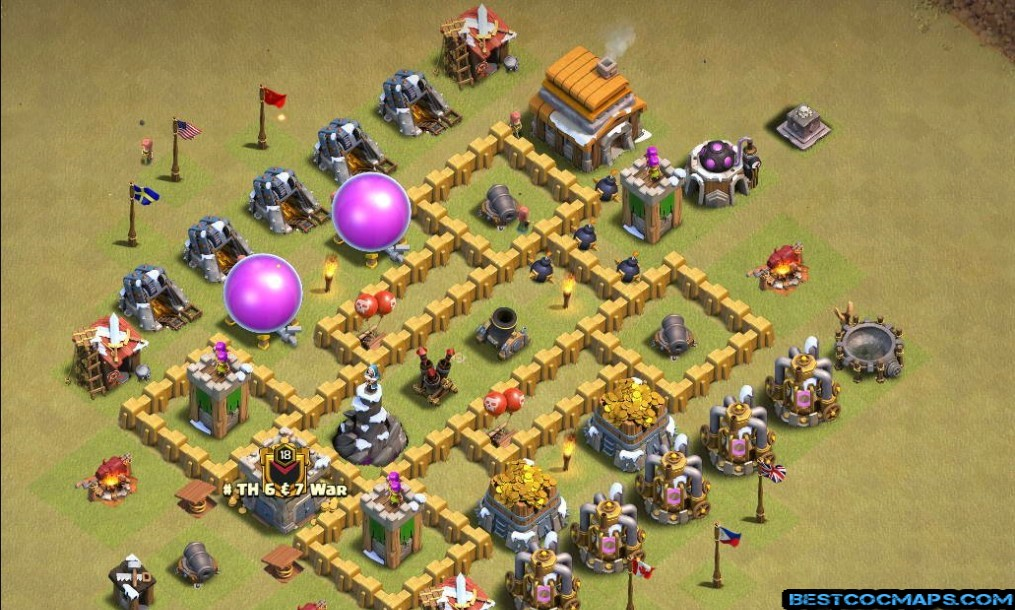 clash of clans th5 war base link
