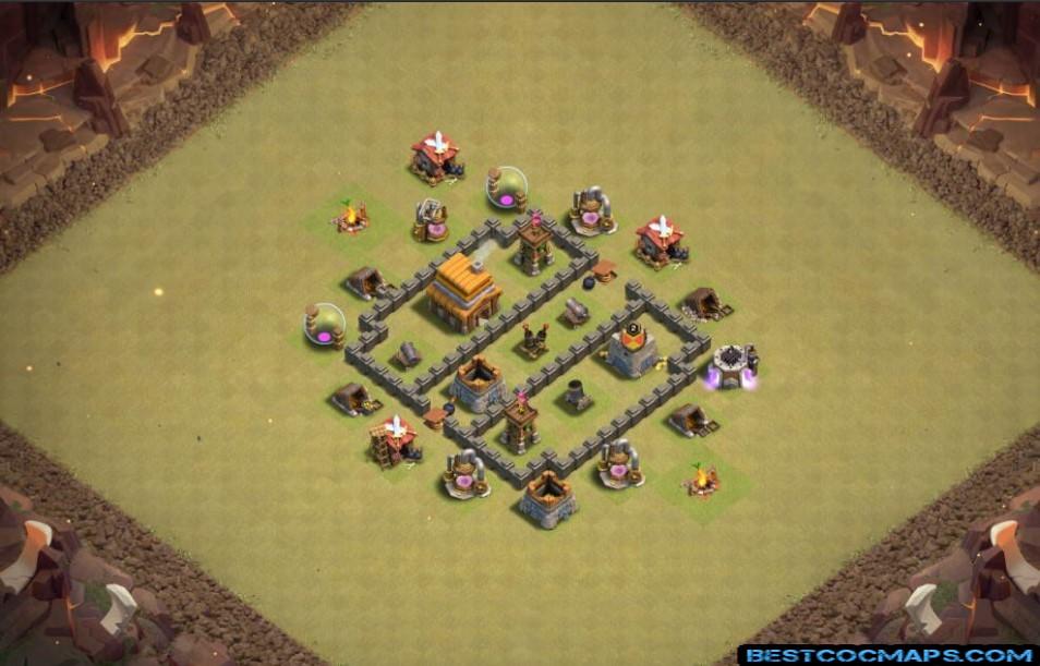 th4 war base coc