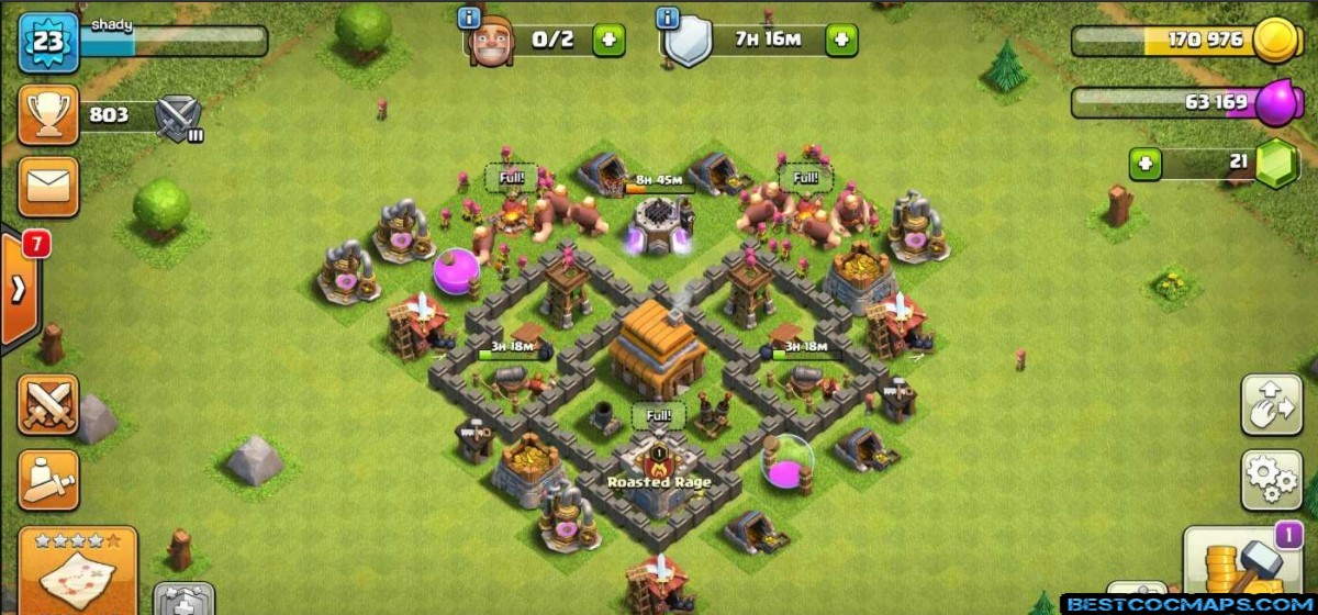 coc th4 trophy layout
