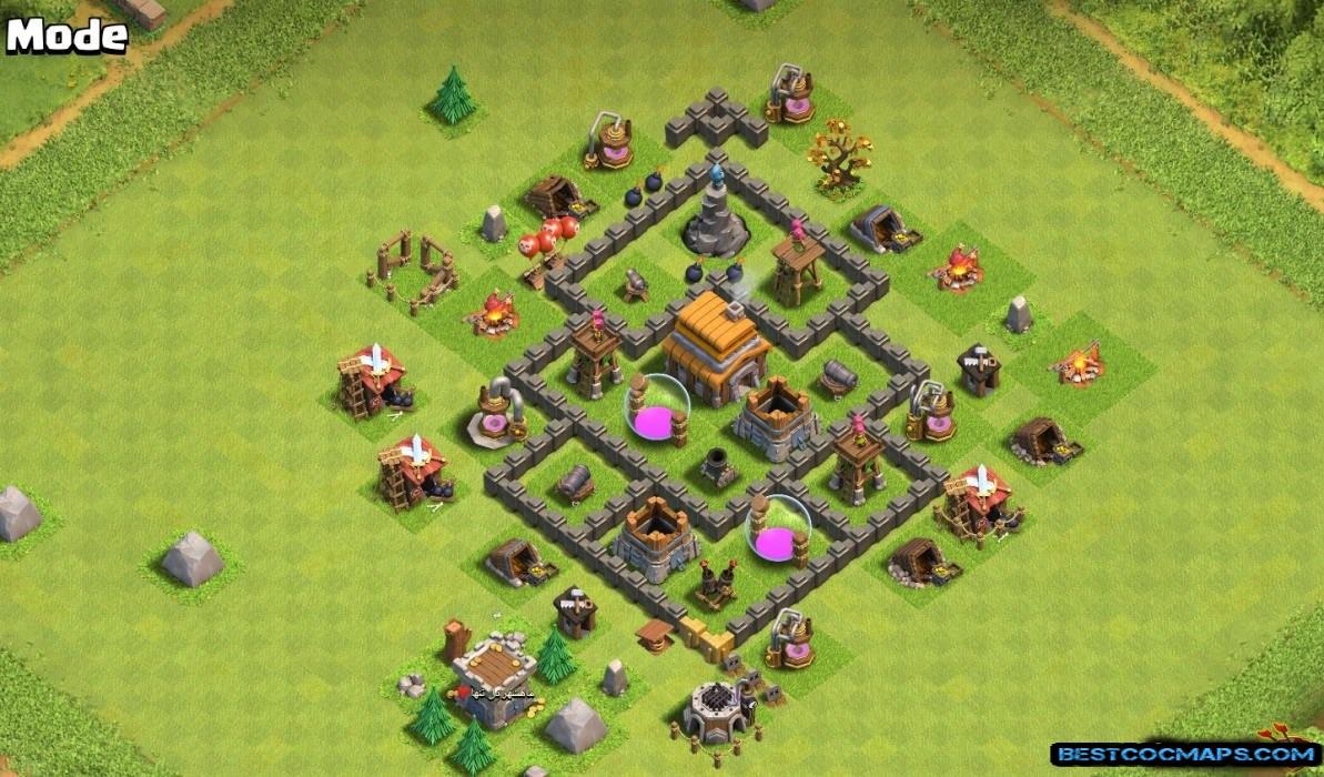 th4 war base best defense layout
