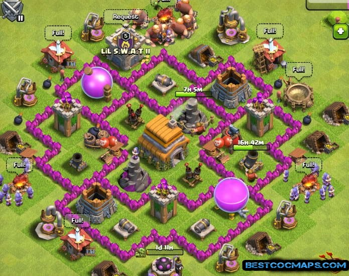 townhall 6 trophy base link